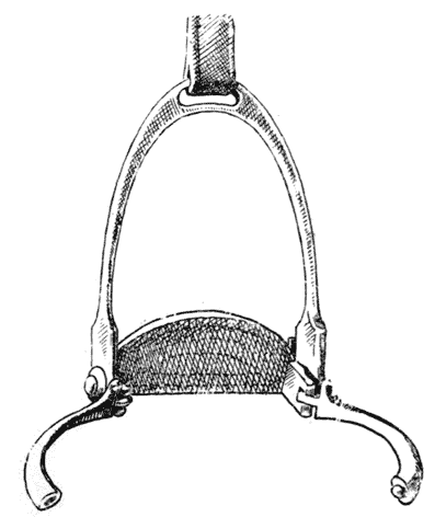 Scott safety stirrup showing release mechanism